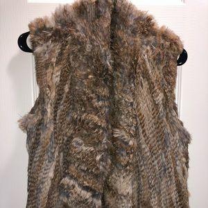100% rabbit fur vest